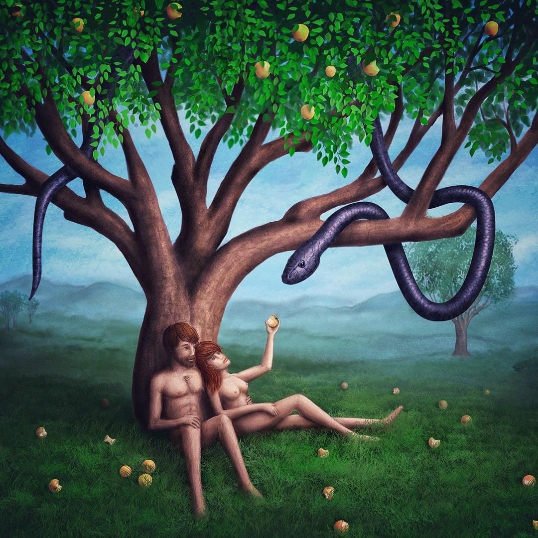 Рисуем иллюстрации Адам и Ева